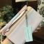 กระเป๋าเงิน กระเป๋าครัช Charles & Keith Top Handle Clutch Bag สีชมพู ราคา 1,090 บาท Free Ems thumbnail 3