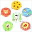 แทมบูรินไม้เคาะจังหวะสำหรับเด็ก การ์ตูนคละลาย - Tambourine musical educational toy thumbnail 14