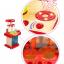 ของเล่นชุดเคาน์เตอร์ครัวมินิ พร้อมอุปกรณ์ทำอาหารสำหรับคุณหนูครบเซต สีแดงสไตล์โมเดิร์น thumbnail 2