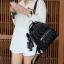 KEEP genuine Leather Mini Chic Backpack Classy Black #ใบนี้หนังแท้เลยค่ะ thumbnail 6