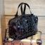 กระเป๋า David Jones กระเป๋าสะพายข้างดีไซน์เกร๋มาก สีดำเงาสวยหรูมาก ขนาดกะลังดีเลย thumbnail 4