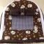 กระเป๋าผ้าคอตตอล (ใส่กรงโค้งได้) น้ำตาลแมวนำโชค thumbnail 4