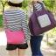 กระเป๋าช้อปปิ้งพับเก็บได้ ผ้าหนา สีสันสดใส ผลิตจากโพลีเอสเตอร์กันน้ำ คุ้มค่า (Street Shopper Bag) thumbnail 17