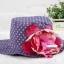 หมวกปีกเด็กหญิงลายจุด ติดดอกไม้ใหญ่ สำหรับเด็กวัย 2-5 ขวบ thumbnail 4