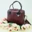 กระเป๋า Amory Leather Mini Durable Classic bag สีแดงเข้ม thumbnail 2