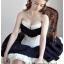 คอร์เซ็ท Corset สีขาว แต่งระบายสีดำ น่ารักคุณหนู ไฮโซสุดๆ !!! thumbnail 1