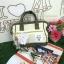 กระเป๋า Anello 2 Way Mini Boston Bag Twotone ขาวเขียว สะพายข้างลำตัว thumbnail 2