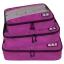 ชุดจัดกระเป๋าเดินทางคุณภาพดีมาก 3 ใบต่อชุด ใส่เสื้อ, กางเกง, กระโปรง, ผ้าขนหนู (Ecosusi 3 Set Packing Cubes - Travel Organizers) thumbnail 8