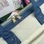 กระเป๋า Anello 2 Way Mini Boston Bag Twotone ขาวฟ้า สะพายข้างลำตัว thumbnail 3