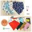 ผ้าซับน้ำลายสามเหลี่ยม ผ้ากันเปื้อนเด็ก แบบใช้ได้ 2 ด้าน / มี 4 ลาย thumbnail 1