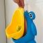 โถฉี่กบ เด็กชายหัดปัสสาวะ ติดผนัง-วางพื้นได้ รูปกบ/นก (มีกังหันน้ำ) thumbnail 9