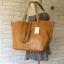กระเป๋า MNG Shopper bag สีน้ำตาล กระเป๋าหนัง เชือกหนังผูกห้วยด้วยพู่เก๋ๆ!! จัดทรงได้ 2 แบบ thumbnail 4