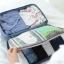 กระเป๋าจัดระเบียบ Travel Luggage Organizer เสียบที่จับของกระเป๋าเดินทางได้ มีช่องใส่สองชั้นกั้นด้วยช่องตาข่าย ผลิตจากโพลีเอสเตอร์กันน้ำ thumbnail 36