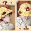 หมวกเด็กปีกกว้าง หมวกซันเดย์ ประดับปอยผม ลายกระต่ายน้อย (มี 3 สี) thumbnail 4