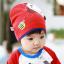 HT442••หมวกเด็ก•• / หมวกบีนนี่-ผีเสื้อ (สีแดง) thumbnail 1