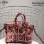กระเป๋าถือสะพายหนังแท้ สองขนาด ลายงานหนังวัวแท้ สีทูโทน (Leather100%) thumbnail 5