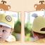หมวกแก๊ป หมวกเด็กแบบมีปีกด้านหน้า ลายหมีน้อย (มี 4 สี) thumbnail 12