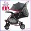 รถเข็นเด็ก fin babies plus สีชมพู ปรับโยกได้ พร้อมมุ้งกันยุง thumbnail 3