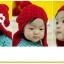 หมวกไหมพรมถัก กันหนาว ติดดอกไม้น่ารัก มีสายปอมปอมปิดหู thumbnail 6