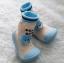 รองเท้าถุงเท้าพื้นยางหัดเดิน สีฟ้า ลายหมี Beary cute size 20-25 thumbnail 3