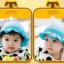 HT480••หมวกเด็ก•• / หมวกปีกกว้าง-กระต่าย (สีฟ้า) thumbnail 2