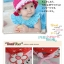 หมวกเด็กหญิง วัย 6-24 เดือน มีระบาย แต่งดอกไม้ปัก thumbnail 2