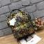 กระเป๋าเป้ Anello x Legato Largo Botanical & Cat nylon Cap fasteners Backpack Black Button รุ่นคลาสสิค thumbnail 3