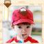 หมวกแก๊ป หมวกเด็กแบบมีปีกด้านหน้า ลายหมีสกรีนสามเหลี่ยม (มี 4 สี) thumbnail 2