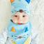 เซตหมวก+ผ้าซับน้ำลาย / ลายแมว (มี 5 สี) thumbnail 15
