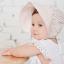 หมวกบอนเน็ตปีกใหญ่ หมวกเด็กผู้หญิงปิดท้ายทอย ลายดอกไม้เล็ก (มี 2 สี) thumbnail 2