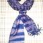 ผ้าพันคอย้อมครามทอมือ Premium Gift *สินค้า Handmade 100% ราคา 490 บาท(Ems +70) Bagshopweb.com thumbnail 5