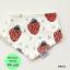 ผ้าซับน้ำลายสามเหลี่ยม ผ้ากันเปื้อนเด็ก [ผืนเล็ก] / Red Strawberry thumbnail 1