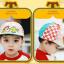 HT521••หมวกเด็ก•• / หมวกเบเร่ต์-ลิงขับเครื่องบิน [สีเบจ] thumbnail 2
