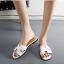 รองเท้าแตะไซส์ใหญ่ 42-43 สไตล์ H สีขาว KR0390 thumbnail 4