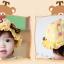 หมวกเด็กปีกกว้าง หมวกซันเดย์ ประดับปอยผม ลายกระต่ายน้อย (มี 3 สี) thumbnail 6