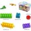 ของเล่นบล็อคตัวต่อเลโก้ชิ้นใหญ่สำหรับเด็กเล็กวัย 2-5 ปี แบบถังหิ้ว 180 ชิ้น thumbnail 4