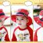 HT495••หมวกเด็ก•• / หมวกปีกกว้าง-บอลลูน (สีแดง) thumbnail 5
