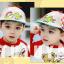 HT521••หมวกเด็ก•• / หมวกเบเร่ต์-ลิงขับเครื่องบิน [สีเบจ] thumbnail 4