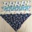 ผ้าซับน้ำลายสามเหลี่ยม ผ้ากันเปื้อนเด็ก แบบใช้ได้ 2 ด้าน / มี 4 ลาย thumbnail 4