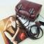 กระเป๋า Amory Leather Mini Durable Classic bag สีแดงเข้ม thumbnail 3