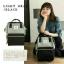 กระเป๋าเป้ Anello Polyester Canvas Rucksack Classic สีขาว-กรม วัสดุผ้าแคนวาสอย่างดี รุ่นคลาสสิกพิเศษมีซิปด้านหลัง thumbnail 6