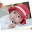หมวกเด็กหญิง วัย 6-24 เดือน ลายจุด มีระบาย น่ารัก thumbnail 4