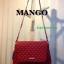 กระเป่า MANGO Outlet Sale สีแดง ราคา 890 บาท Ems Free วัสดุหนังลายตารางทรงห้าเหลี่ยมคลาสสิคไม่มีเอ้าท์ thumbnail 4