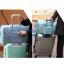 DINIWELL กระเป๋าเดินทางพับเก็บได้ อเนกประสงค์ เพื่อการเดินทาง ท่องเที่ยว ปรับสายสะพายได้ เสียบที่จับของกระเป๋าเดินทางได้ น้ำหนักเบา มีซิปรูดตอนพับเก็บ thumbnail 14