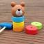 ตุ๊กตาค้อนตอกหมีไม้ ของเล่นทาวเวอร์สีรุ้ง thumbnail 1