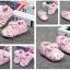 รองเท้าเด็กอ่อน ดอกไม้ประดับโบว์สีชมพู ผ้านิ่มมีกันลื่น วัย 0-12 เดือน thumbnail 2