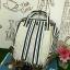 กระเป๋า Anello Casual Fabric Square Shaped Rucksack Stripe Navy blue thumbnail 3