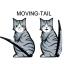 สติ๊กเกอร์ที่ปัดน้ำฝนหางแมว thumbnail 3