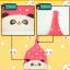 AP144••เซตหมวก+ผ้ากันเปื้อน•• / [สีชมพูเข้ม] แพนด้า thumbnail 6