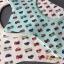 ผ้าซับน้ำลายเด็ก ผ้ากันเปื้อนเด็กเล็ก แบบ 360 องศา ปลายแฉก / ลายรถยนต์ (มี 2 สี) thumbnail 1